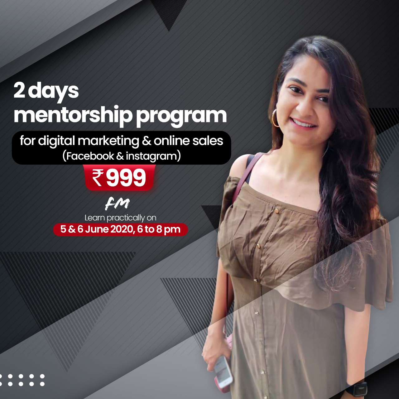 Mentorship Program for Digital Marketing and Online sales (Facebook and Instagram).