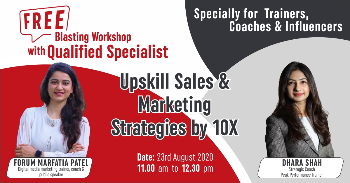 Upskill sales and marketing strategies of Influencer by 10x