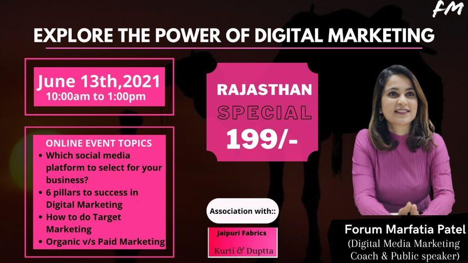 Explore the power of digital marketing